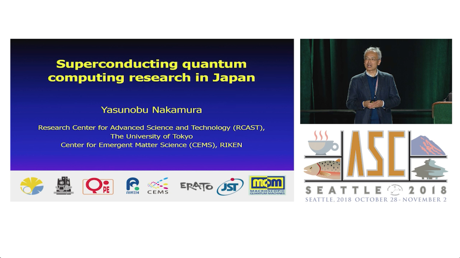 Superconducting quantum computing research in Japan - Applied Superconductivity Conference 2018
