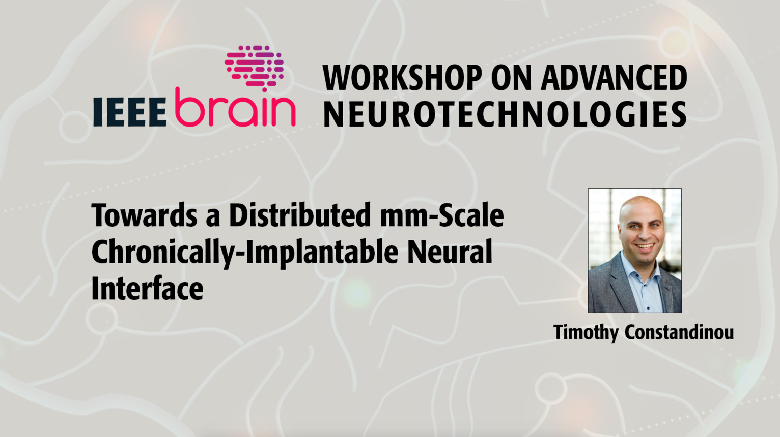 Towards a distributed mm-scale chronically-implantable neural interface - IEEE Brain Workshop