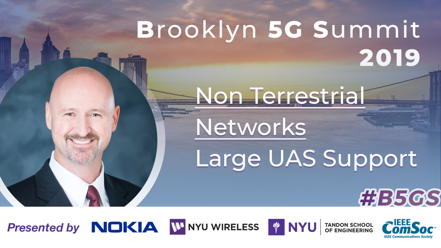 Large UAS Support: Non Terrestrial Networks - Dallas Brooks - B5GS 2019