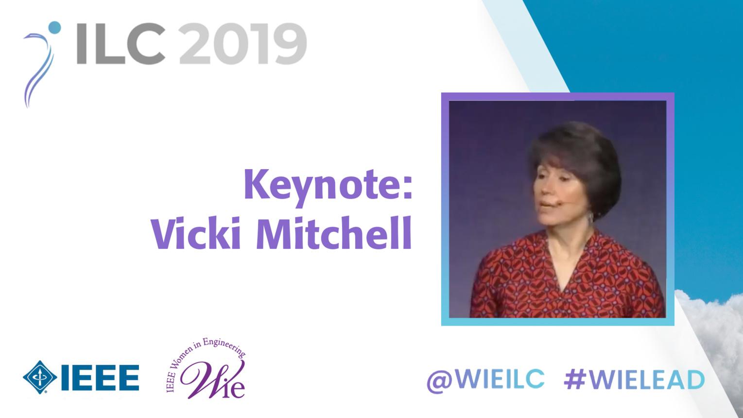 Keynote: Victoria Mitchell - WIE ILC 2019