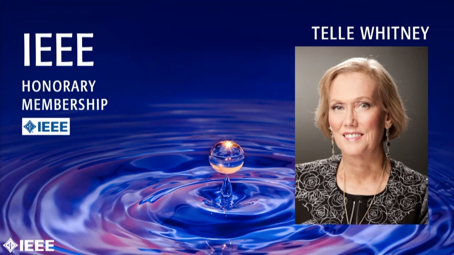 Telle Whitney - IEEE Honorary Membership, 2019 IEEE Honors Ceremony