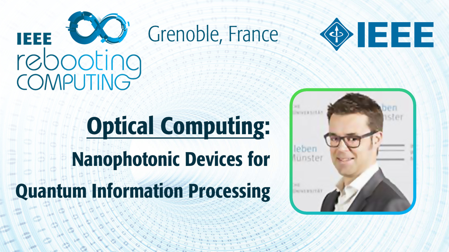 Nanophotonic Devices for Quantum Information Processing: Optical Computing - Carsten Schuck at INC 2019