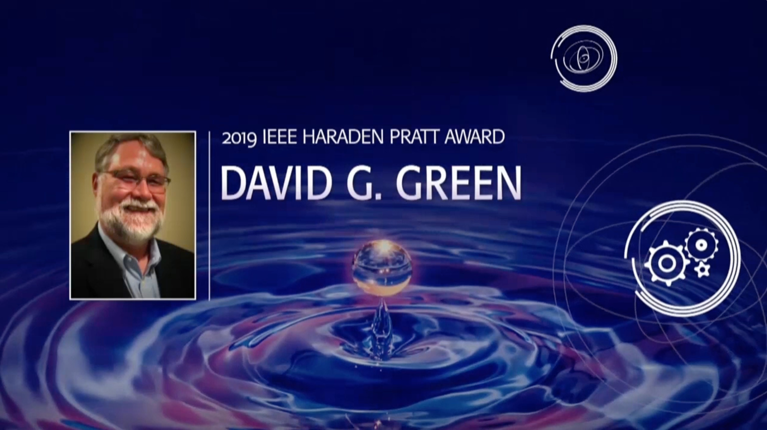 David G. Green - IEEE Haraden Pratt Award, 2019 IEEE Honors Ceremony