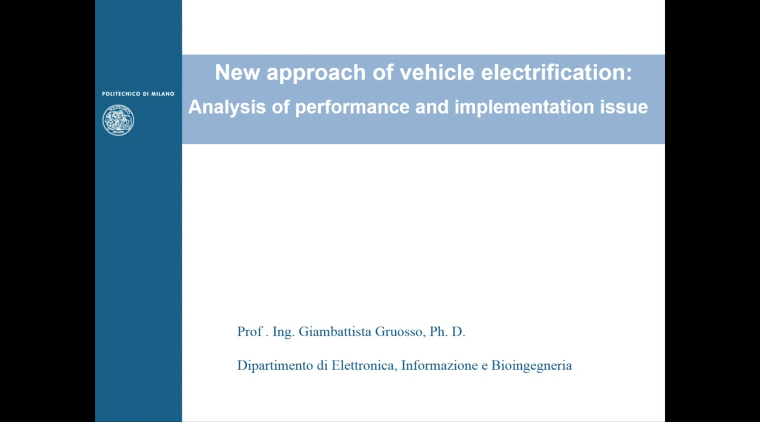 New Approach of Vehicle Electrification: Analysis of Performance and Implementation Issue