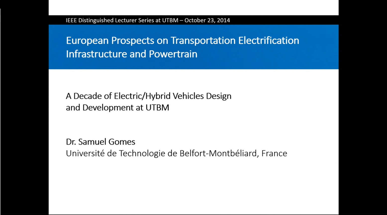 A Decade of Electric/Hybrid Vehicles Design and Development at UTBM