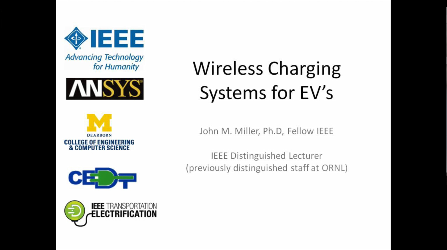 Wireless Charging Systems for EVs