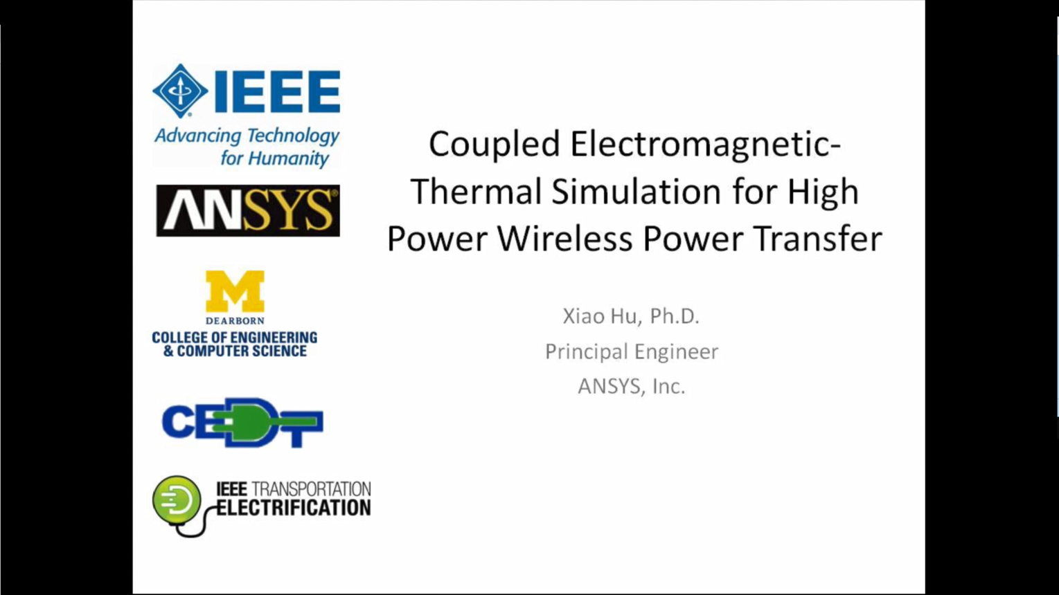 Coupled Electromagnetic-Thermal Simulation for High Power Wireless Power Transfer