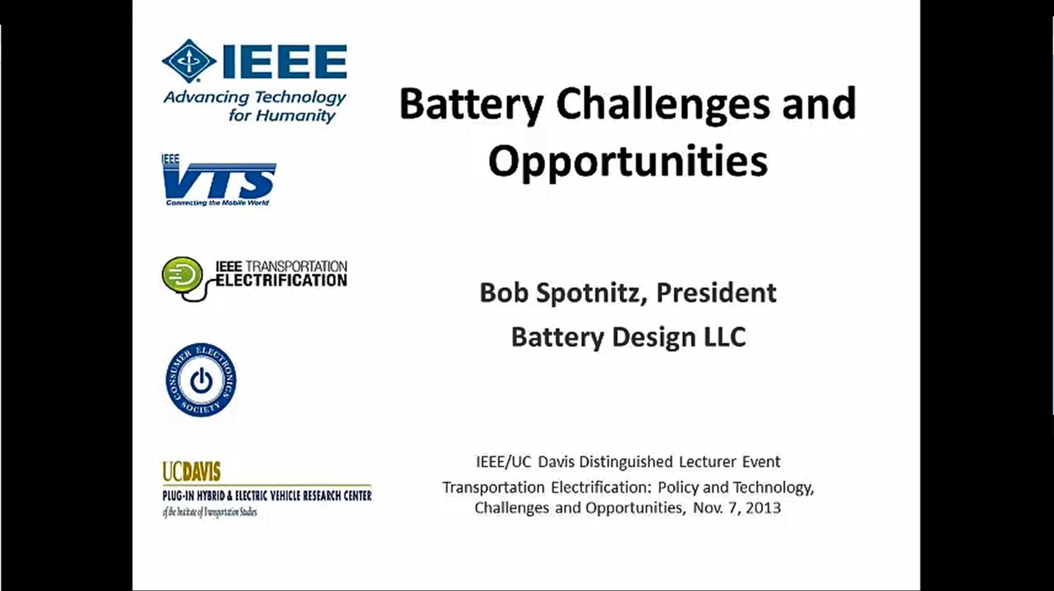 Battery Challenges and Opportunities