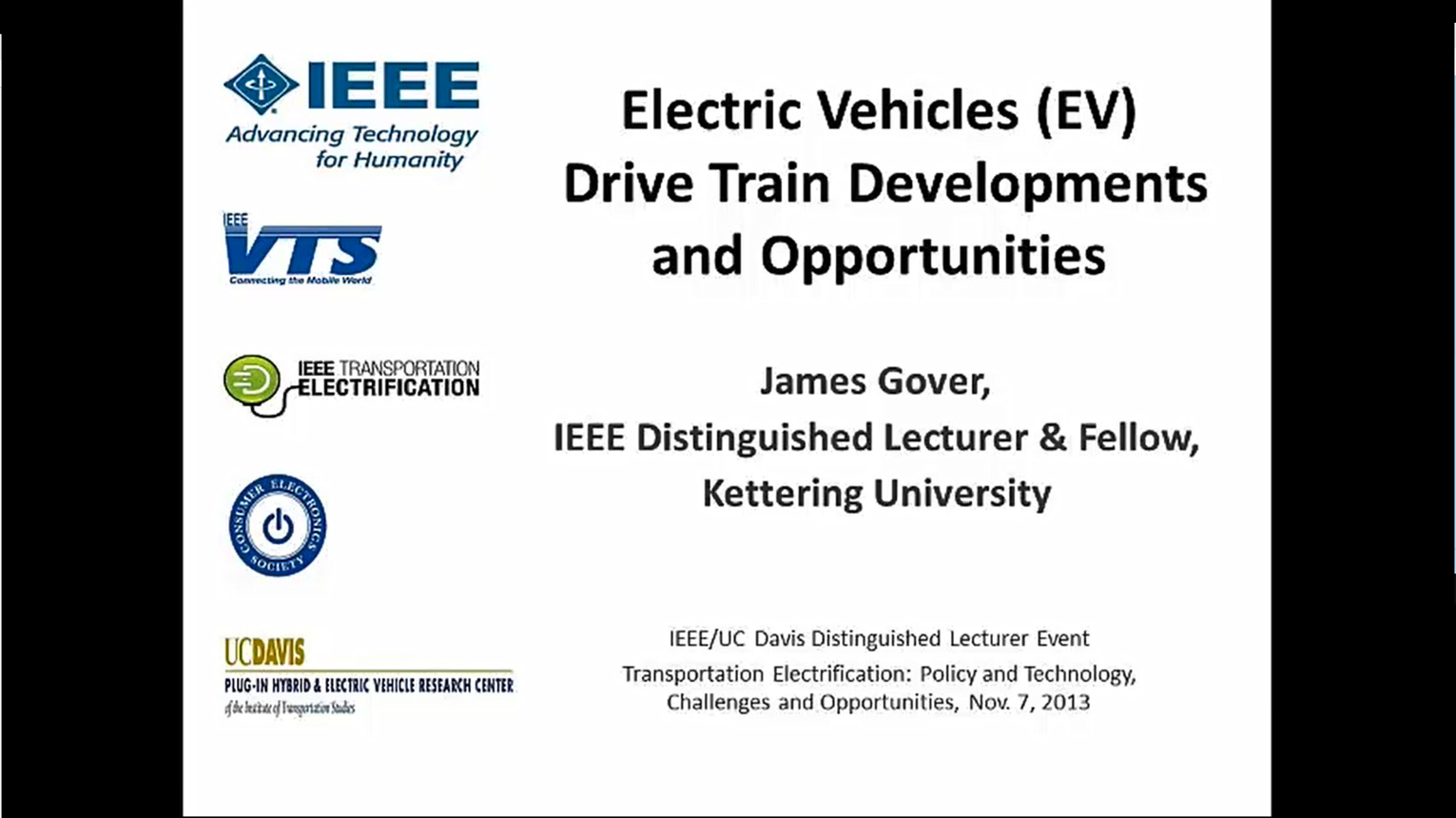 Drive Train Developments and Opportunities: Power Electronics, Semiconductors & Electric Machines