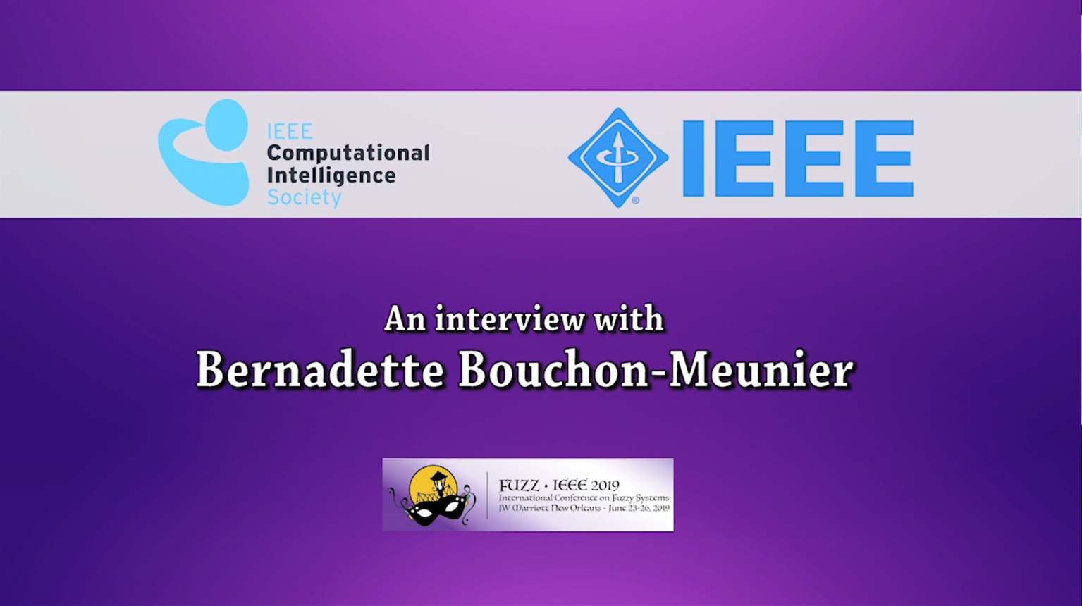 History Committee CIS Oral History Project Series - Bernadette Bouchon-Meunier