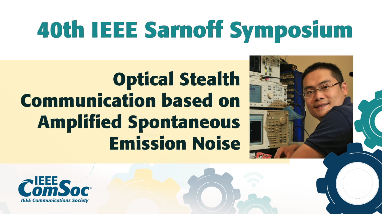 Optical Stealth Communication based on Amplified Spontaneous Emission Noise - Ben Wu - IEEE Sarnoff Symposium, 2019