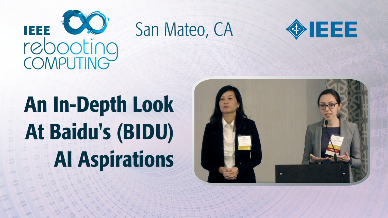 An In-Depth Look At Baidu's (BIDU) Artificial Intelligence Aspirations - ICRC San Mateo, 2019