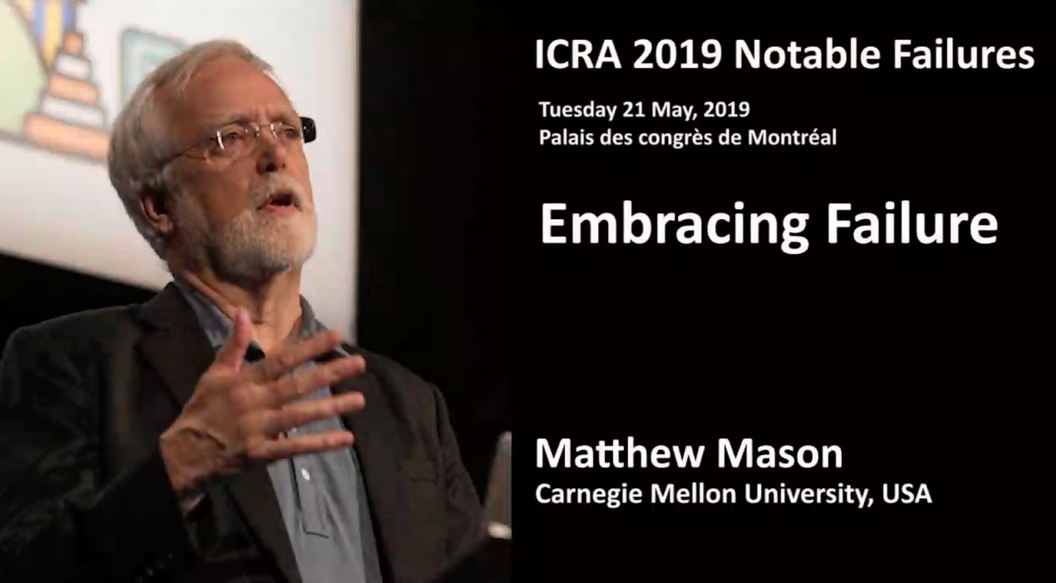 2019 ICRA Notable Failures with Matthew Mason