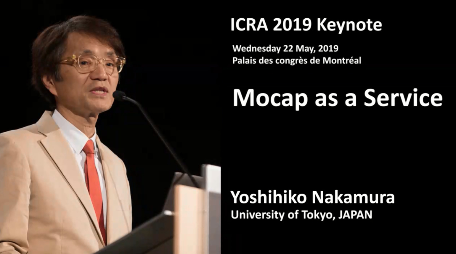 2019 ICRA Keynote- Mocap as a Service