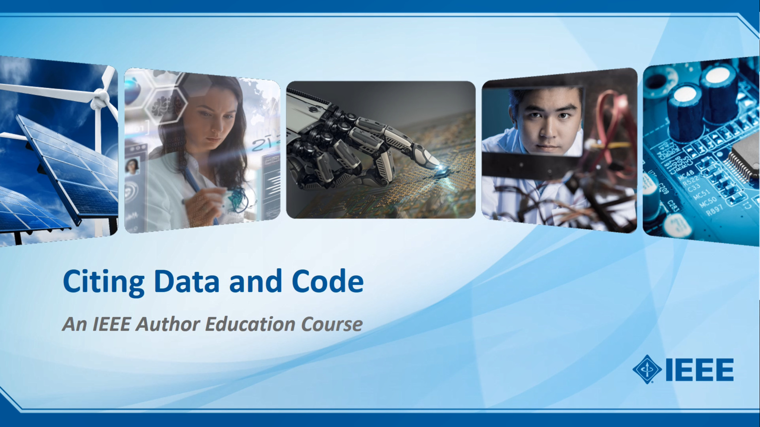 Citing Data and Code - an IEEE Author Education Course