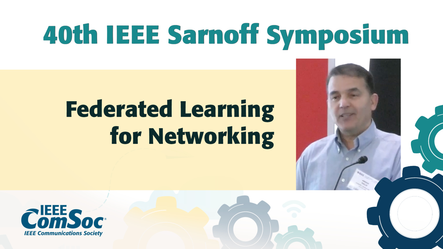 Federated Learning for Networking - Anwar Walid - IEEE Sarnoff Symposium, 2019