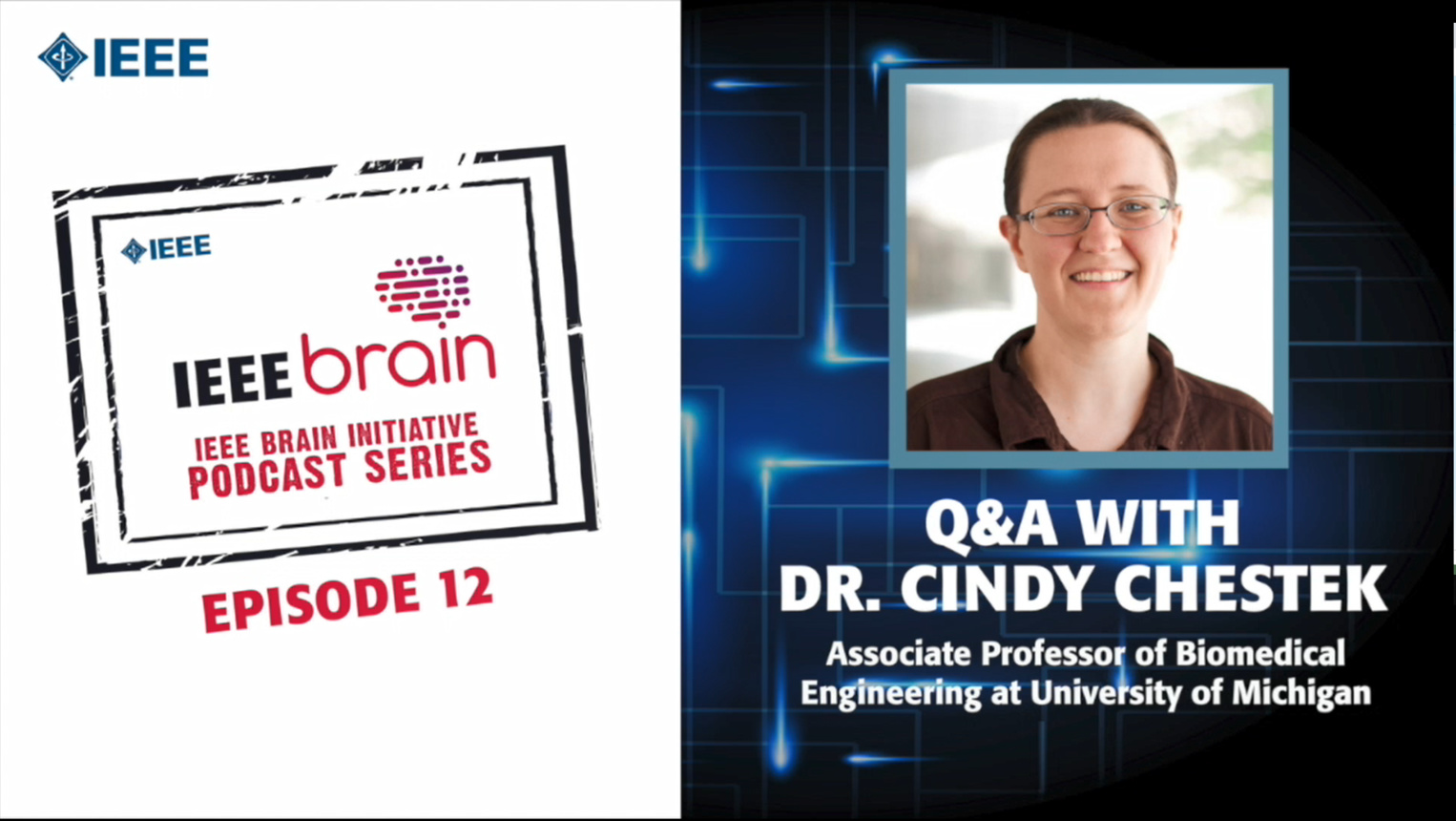 Q&A with Cindy Chestek: IEEE Brain Podcast, Episode 12