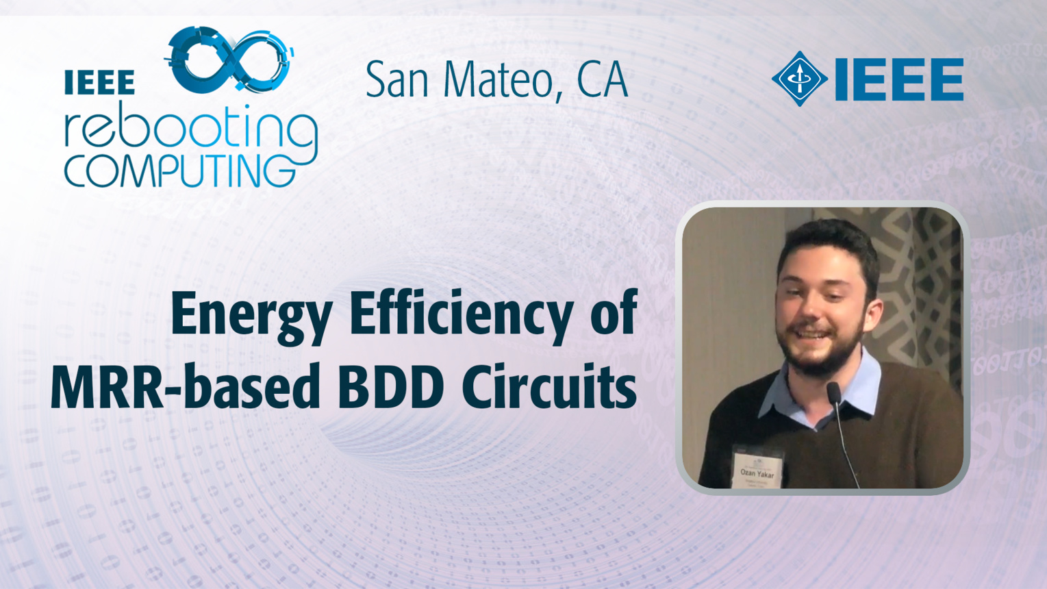 Energy Efficiency of MRR-based BDD Circuits - Ozan Yakar - ICRC San Mateo, 2019