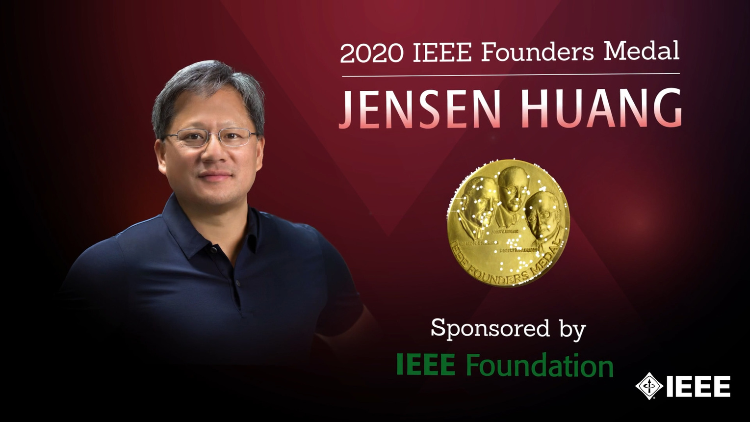 Honors 2020: Jensen Huang Wins the IEEE Founders Medal