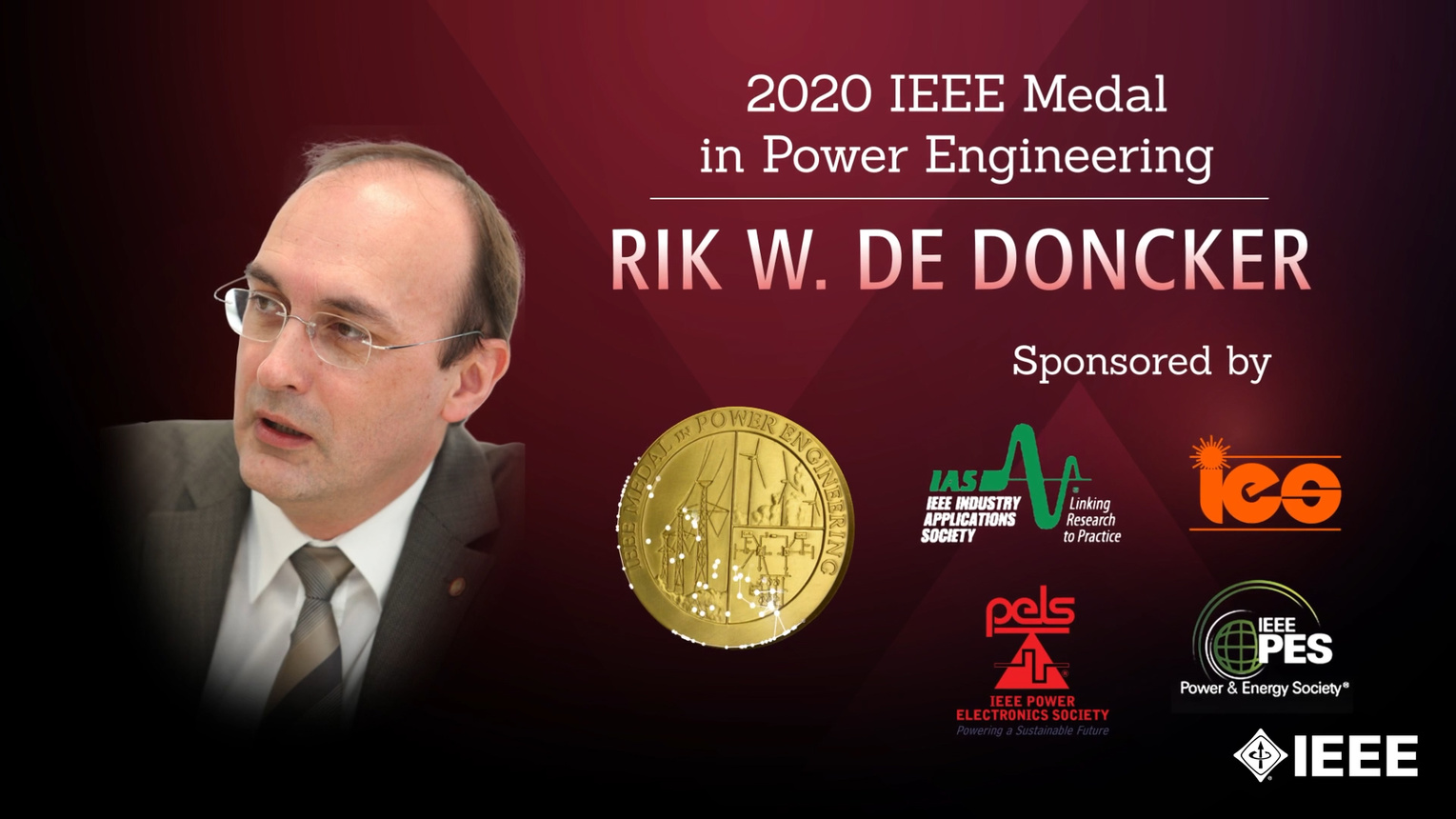 Honors 2020: Rik W. De Doncker Wins the IEEE Power Engineering Medal
