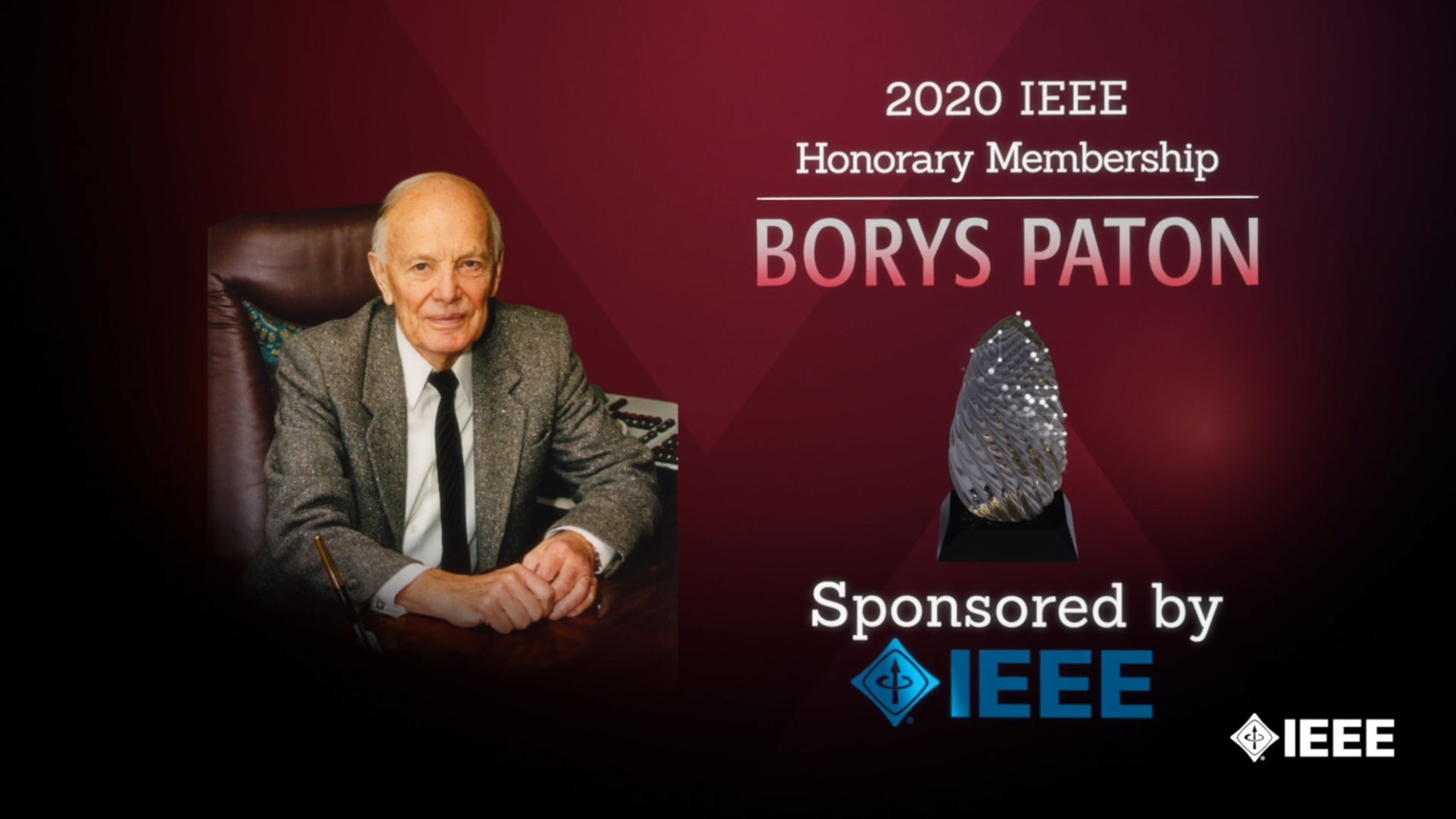Honors 2020: Borys Paton Wins the IEEE Honorary Membership