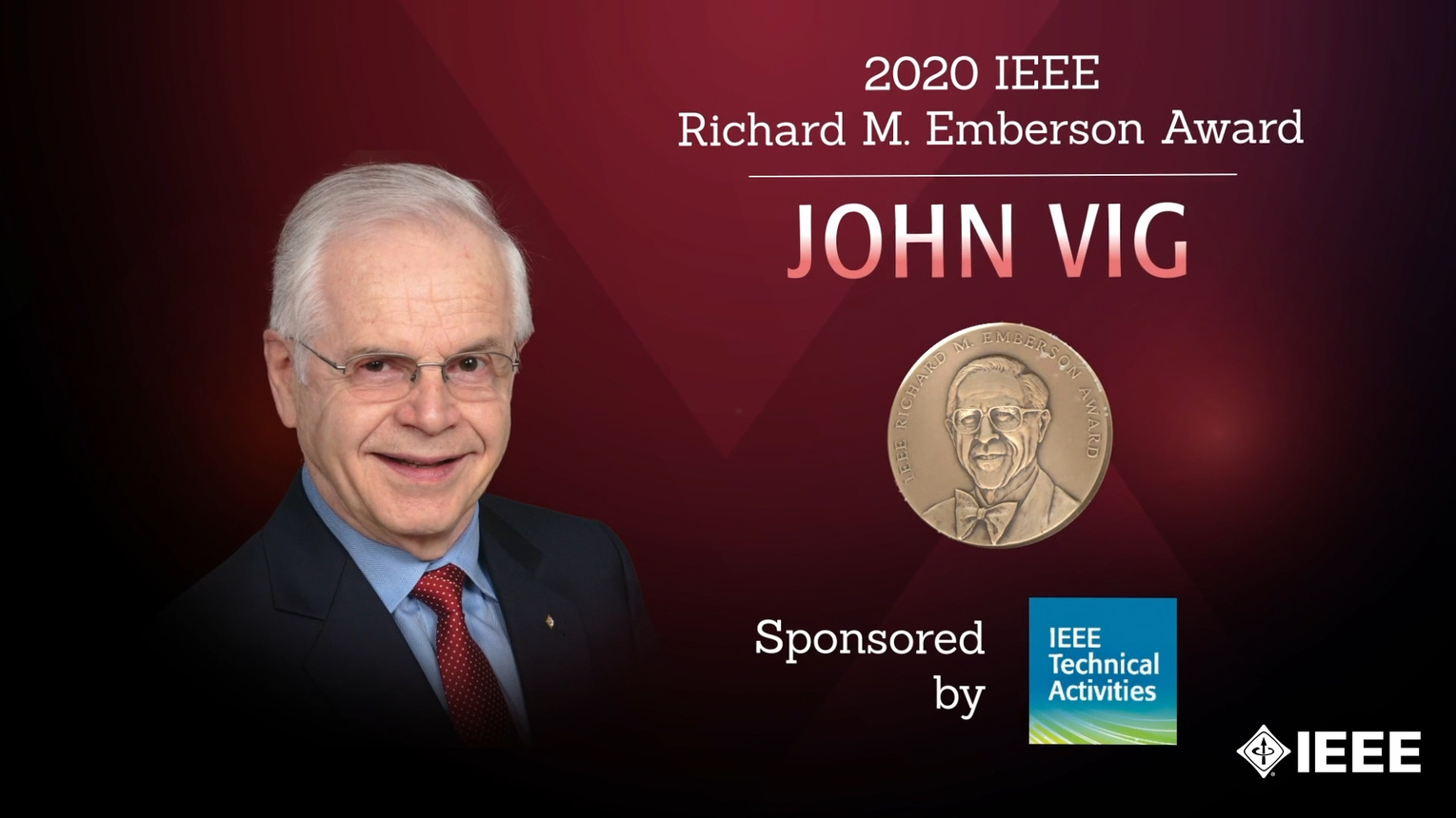 Honors 2020: John Vig Wins the IEEE Richard M. Emberson Award