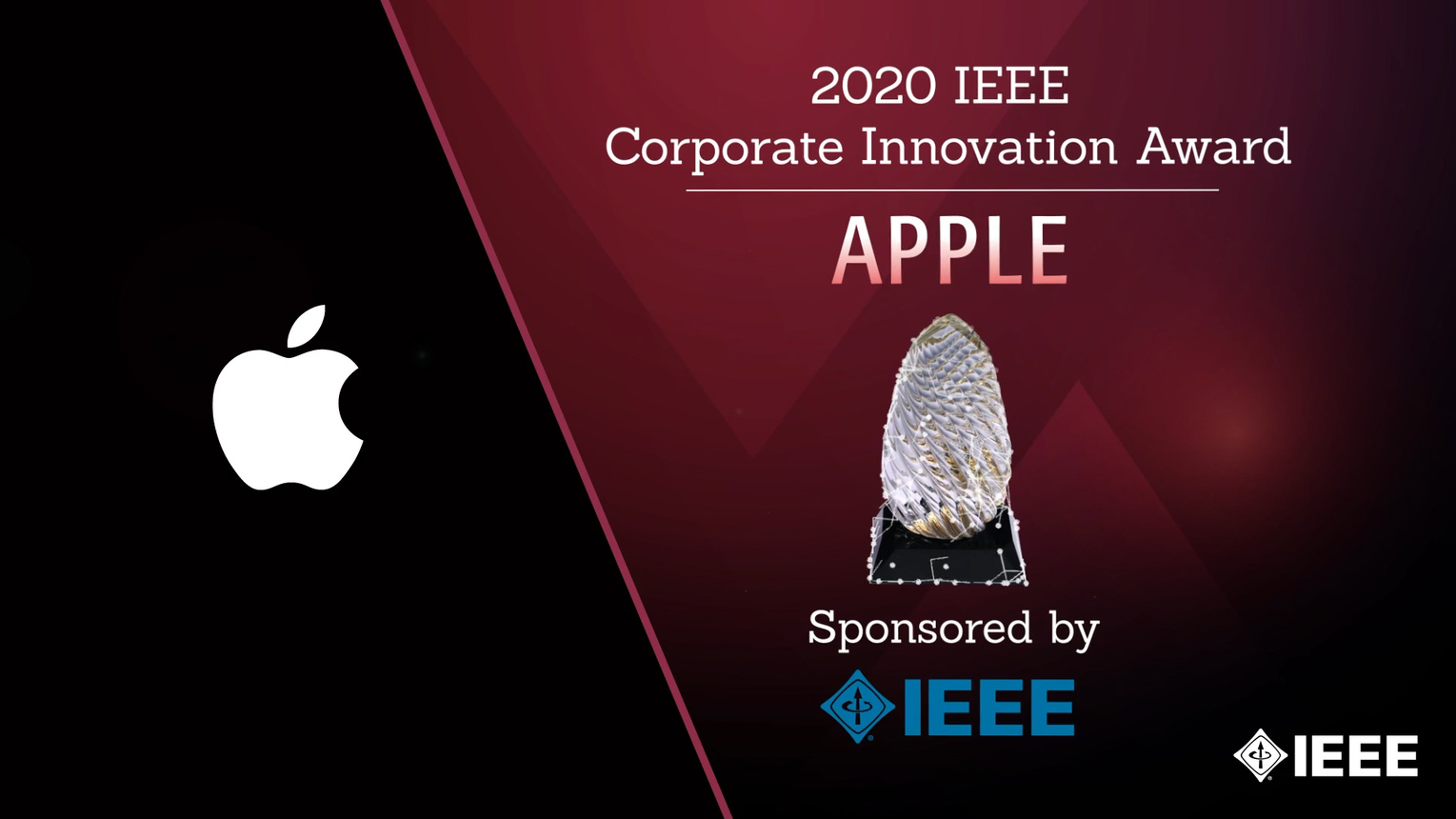 Honors 2020: Apple Wins the IEEE Corporate Innovation Award
