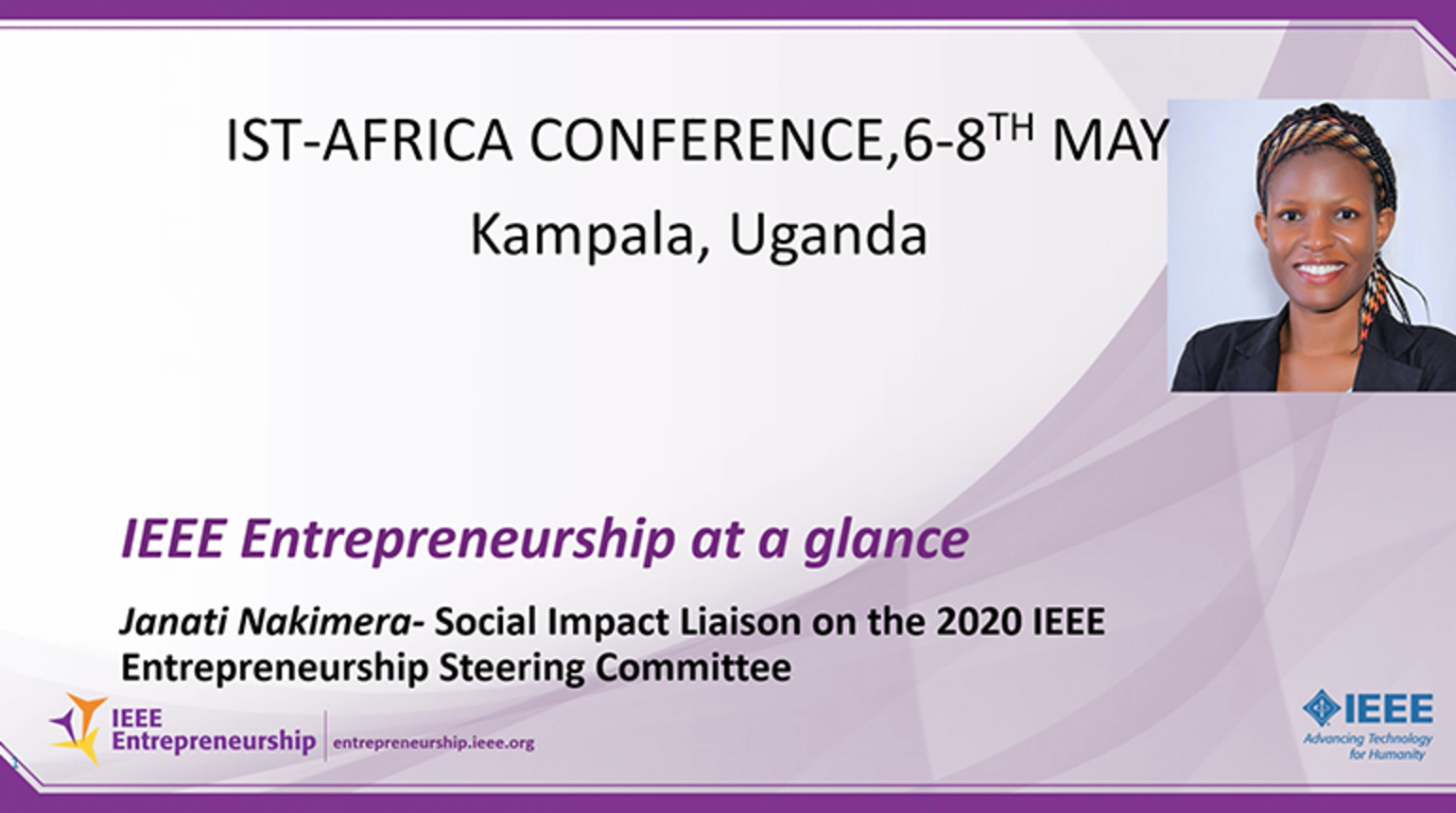IST-Africa Conference | Entrepreneurial Sessions - IEEE Entrepreneurship at a Glance