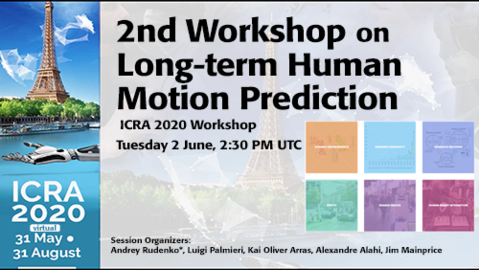 2nd Workshop on Long-Term Human Motion Prediction - ICRA 2020