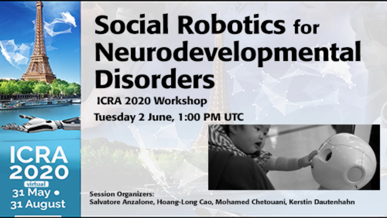 Social Robotics for Neurodevelopmental Disorders - ICRA 2020