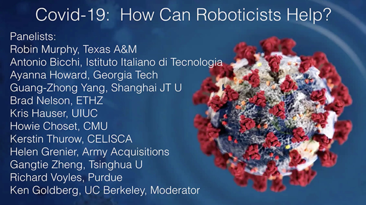 Covid-19: How Can Roboticists Help? - ICRA 2020