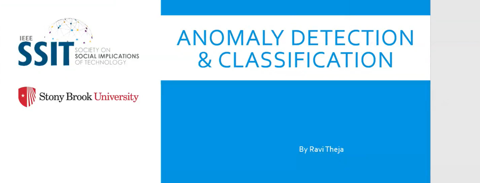 Analytics for Anomaly detection & Classification | DSBC 2020