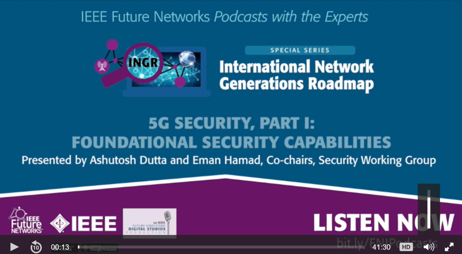 IEEE 5G Podcast with the Experts: 5G Security Part 1: Foundational Security Capabilities