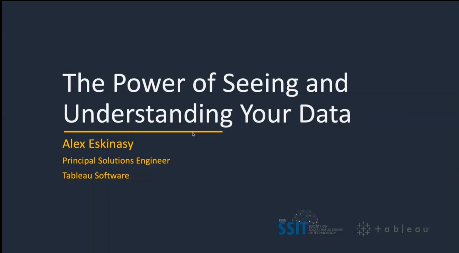 The Power of seeing and understanding your DATA & Closing Ceremony | DSBC 2020
