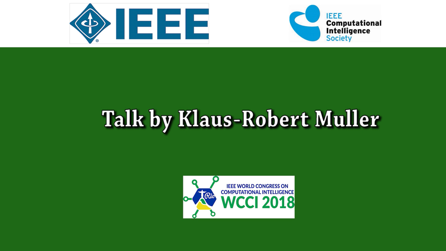 Klaus-Robert Muller: Machine learning & AI for the Sciences — Towards Understanding