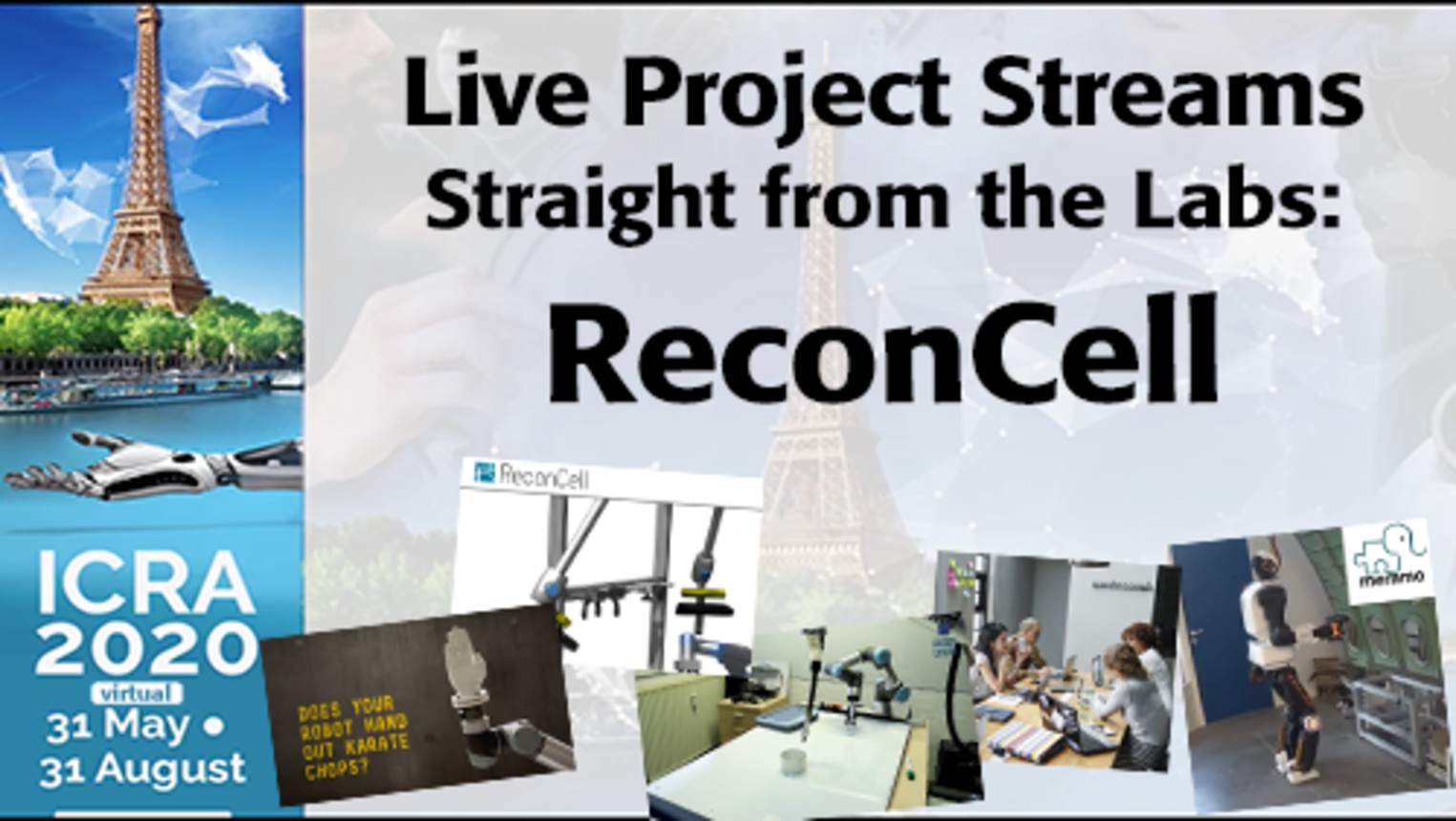 ICRA 2020-Live Project Demo: ReconCell