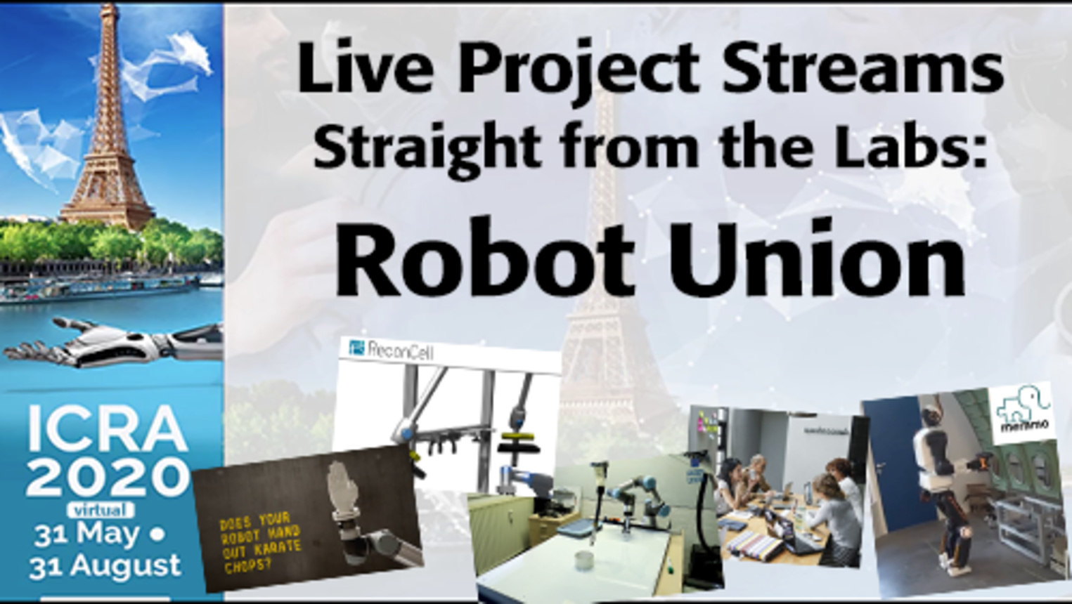 ICRA 2020-Live Project Demo: Robot Union