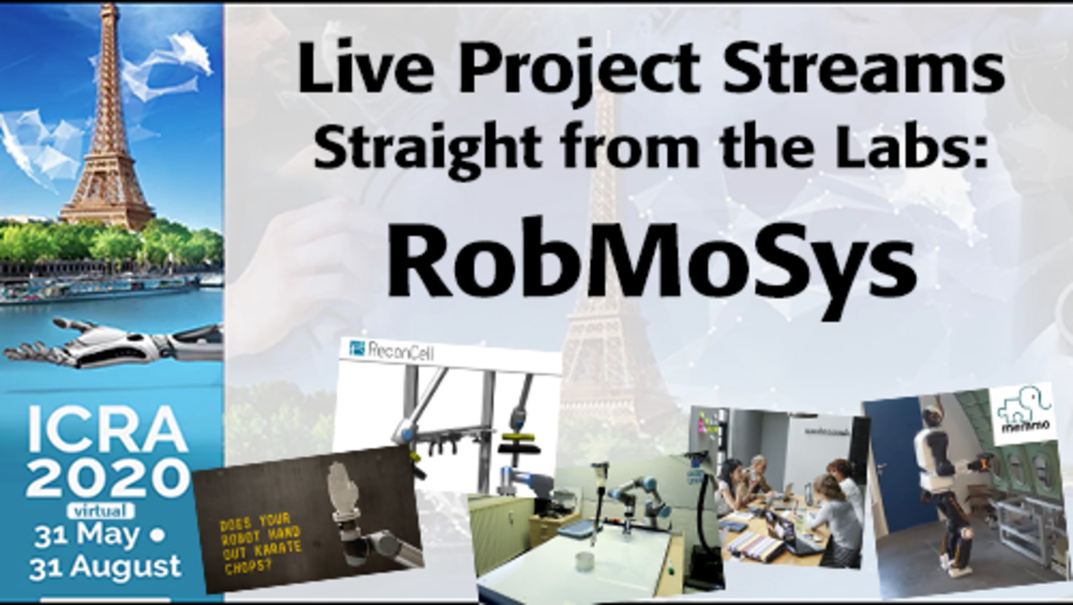 ICRA 2020-Live Project Demo: RobMoSys