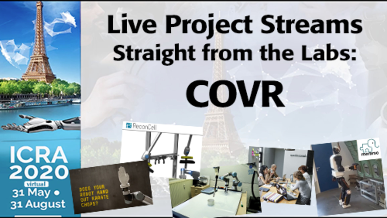 ICRA 2020-Live Project Demo: COVR