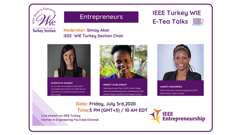 IEEE WIE E-TEA TALKS – INSPIRING ENTREPRENEURS WEBINAR