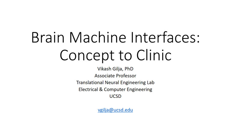 IEEE Brain: Brain Machine Interfaces: Concept to Clinic