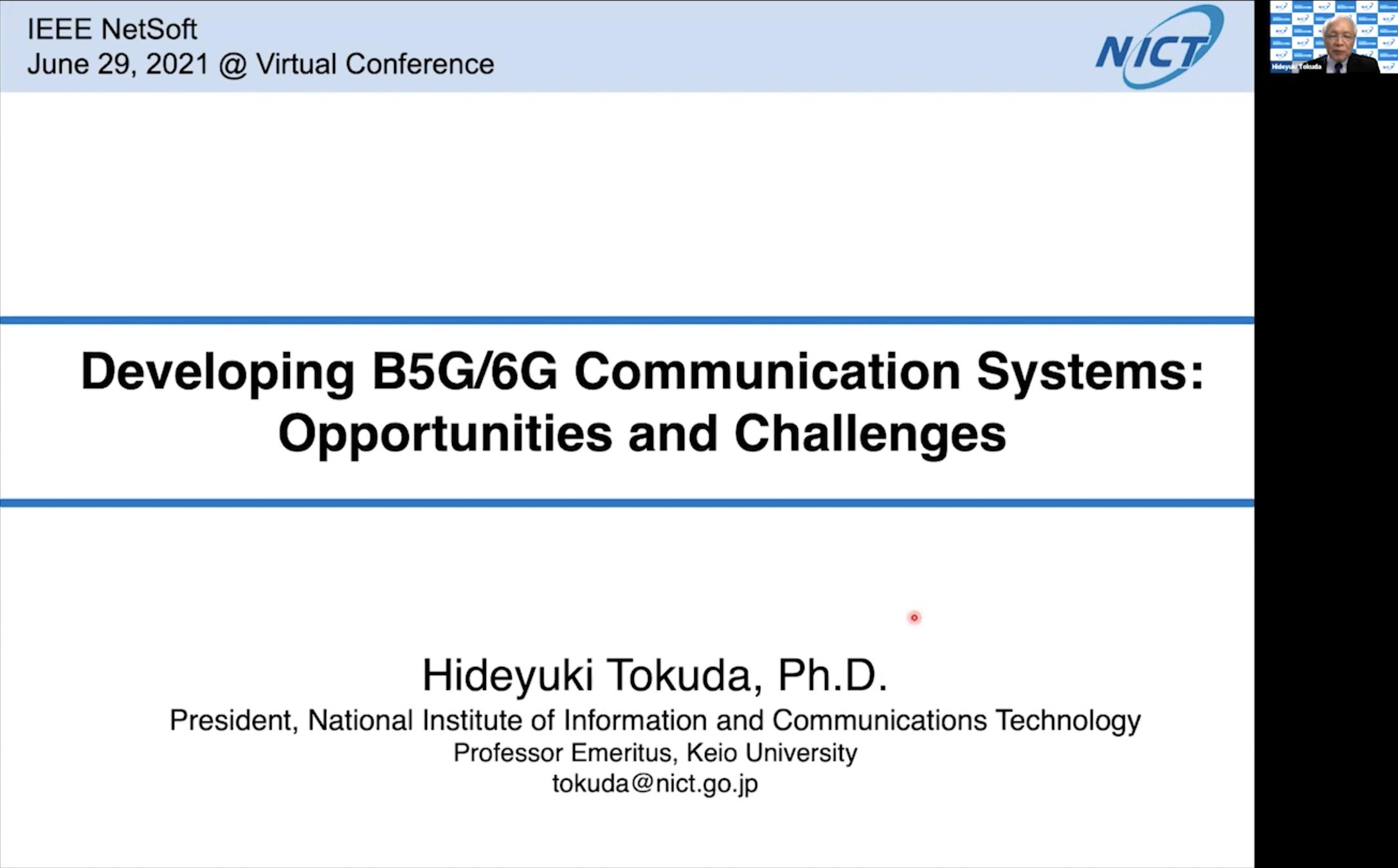 NetSoft 2021 Virtual Conference - Keynote 1