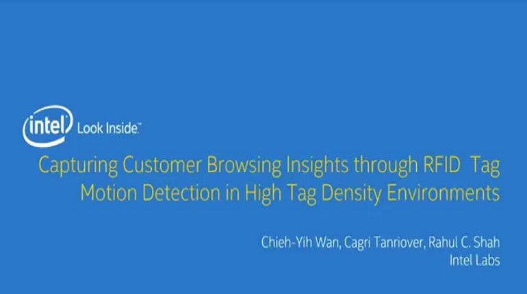 E1 Capturing Customer Browsing Insights through RFID Tag Motion Detection in High Tag Density Environments