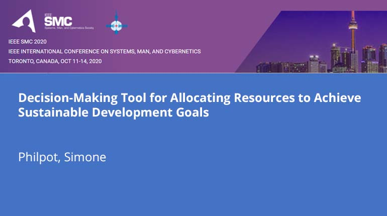 Decision-Making Tool for Allocating Resources to Achieve Sustainable Development Goals
