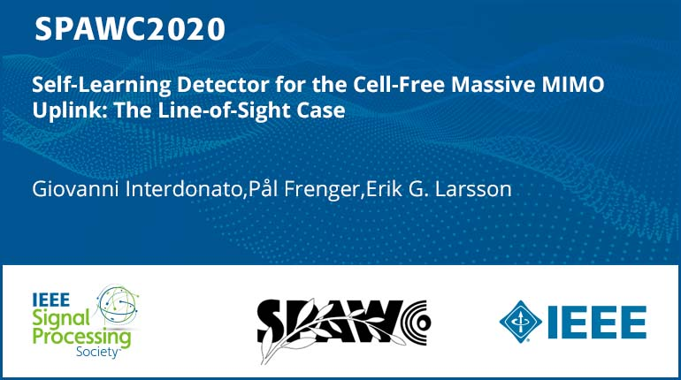 Self-Learning Detector for the Cell-Free Massive MIMO Uplink: The Line-of-Sight Case