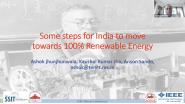 100% Renewable Energy - Ashok Jhunjhunwala - IEEE SSIT 21CW2021