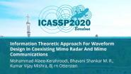 Information Theoretic Approach For Waveform Design In Coexisting Mimo Radar And Mimo Communications