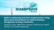 Multi-Conditioning And Data Augmentation Using Generative Noise Model For Speech Emotion Recognition In Noisy Conditions