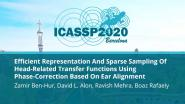 Efficient Representation And Sparse Sampling Of Head-Related Transfer Functions Using Phase-Correction Based On Ear Alignment