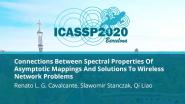 Connections Between Spectral Properties Of Asymptotic Mappings And Solutions To Wireless Network Problems